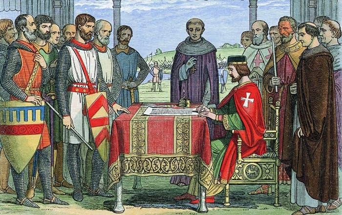 Magna Carta / Kral John teslim oluyor.