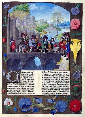 Assassination of John the Fearless / Burgonya dükünün 1419'da veliahtın huzurunda katledilmesi Fransa Kralı VI. Charles'ın, oğlunu, bir katil olduğu için mirasından yoksun bırakmasına bahane oldu