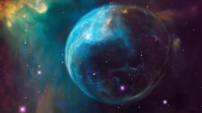 renkli Hubble uzay fotoğrafı