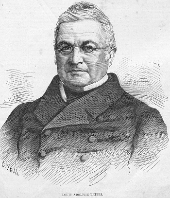 Fransız hükümetinin başı Adolphe Thiers, Komün'ü ezen saldırıyı başlattı.