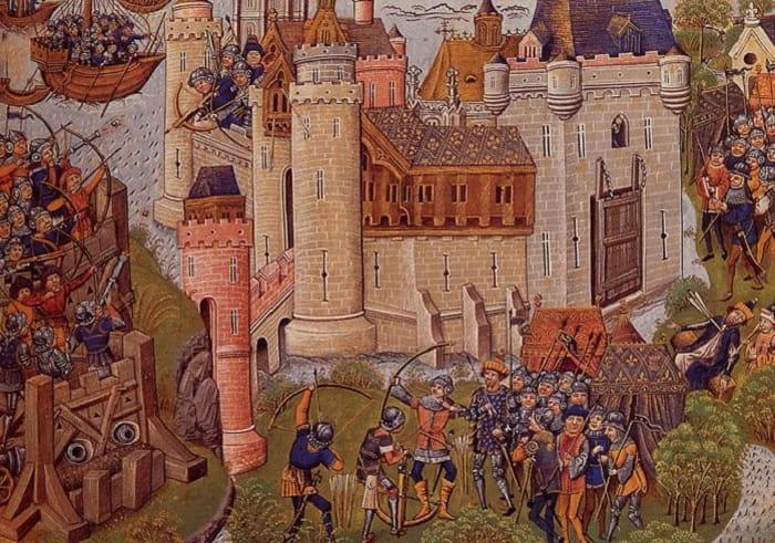 Yüzyıl Savaşları / Siege of Mortagne near Bordeaux in 1377