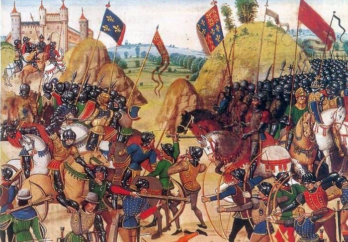 İngilizlerin uzun menzilli okları (Longbow), ortaçağ savaşları için yıkıcı bir silahtı ve 13. ve 17. yüzyıllar arasında yoğun bir şekilde kullanıldı