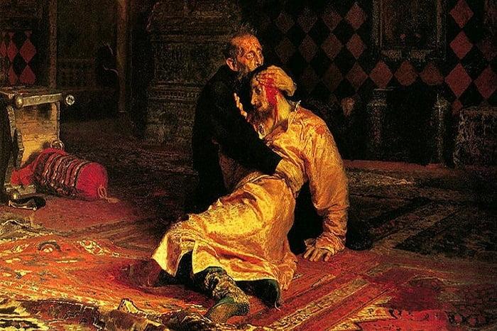 Rusya'nın ilk çarı Korkunç İvan / Korkunç Ivan ve Oğlu İvan, 16 Kasım 1581'de İlya Repin'in en meşhur tablolarından biridir.