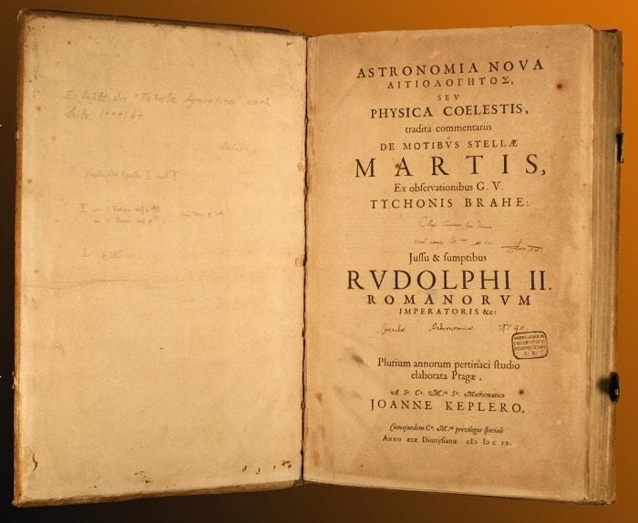 Kepler'in Astronomia Nova eserinin girişi