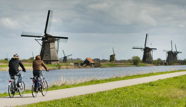 hollanda su değirmenleri Kinderdijk-Elshout