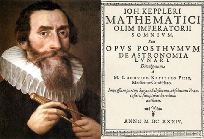 """Kepler, bilimkurgu'nun babası olarak da bilinir. İlk kitabı  Somnium (""""The Dream"""")"""