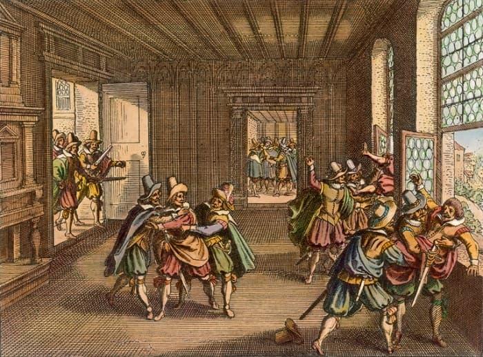Katolik ve Protestan fraksiyonları arasındaki çatışmalar, Protestan Bohemian Lordların, Kutsal Roma İmparatoru Matthias'ın Katolik temsilcilerini 23 Mayıs 1618'de Bohem Şansölyesi penceresinden atmasına neden oldu
