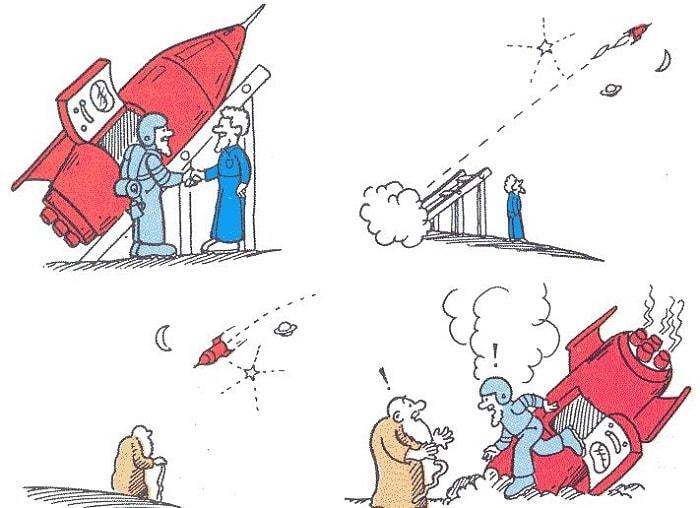 İkiz paradoksu için örnek bir görsel anlatım