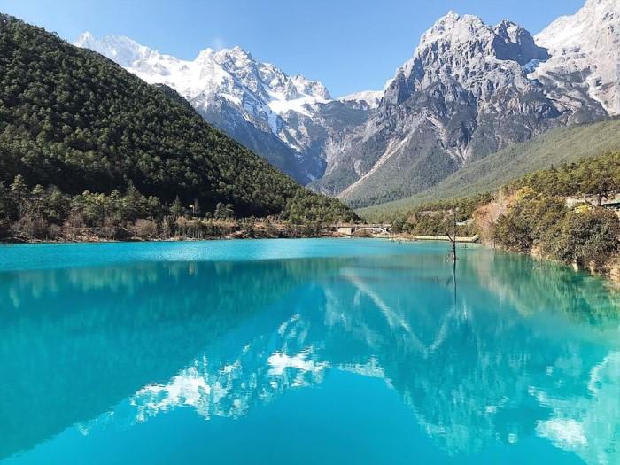 tibet Bitahai gölü, Potatso Ulusal orman parkı (Pudacuo)