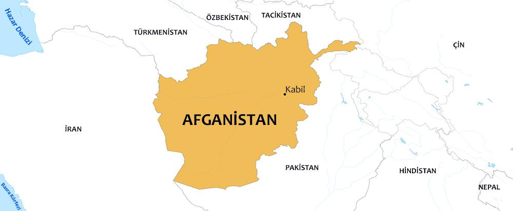 afganistan dünya haritası