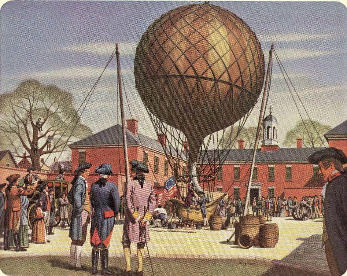 Amerikan'ın ilk sıcak hava balonu uçuşu