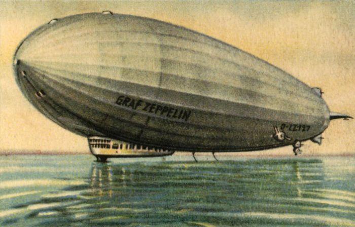 Alman yapımı 'Graf Zeppelin' ilk iskeletli hava gemisi yani gerçek zeplin