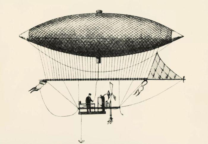 zeplin Fransız mühendis Henri Giffard (1825-1882) tarafından 1852'de icat edildi