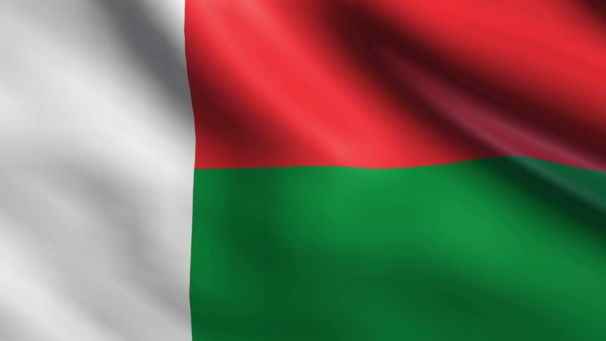 madagaskar bayrağı: Birçok Fransız kolonisi üç şeritli Fransa bayrağına benzer tasarımları benimserken Madagaskar, bağımsızlığından birkaç yıl önce eşsiz bir bayrak tasarladı