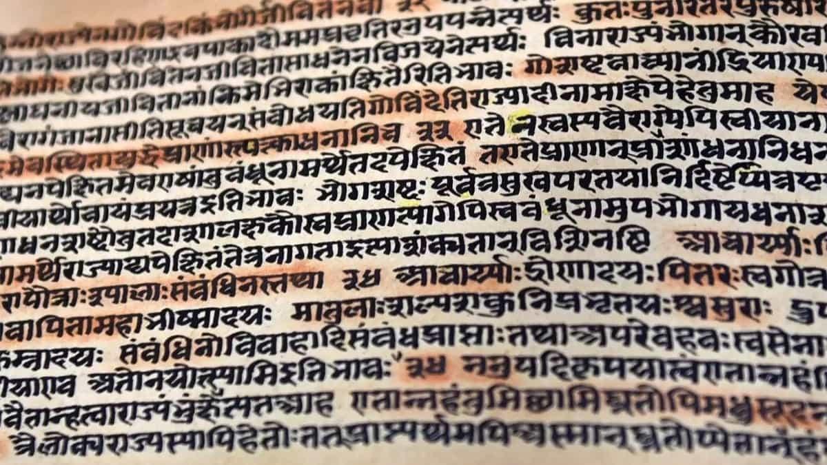 sanskritçe bir metin