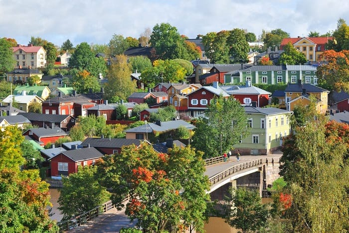 finlandiya şehri porvoo
