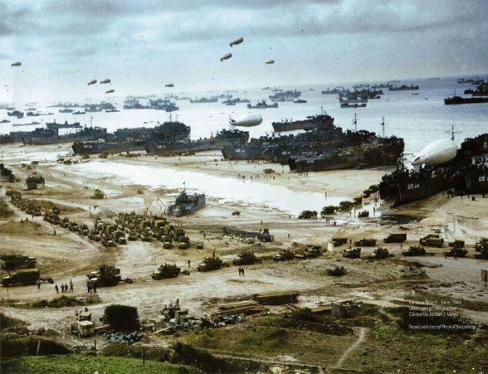 Normandiya çıkarması ile Omaha Plajı'nı ele geçiren Amerikan ordusu tarihin en büyük amfibi saldırısını gerçekleştirdi. Hava balonları Alman uçaklarını izledi.