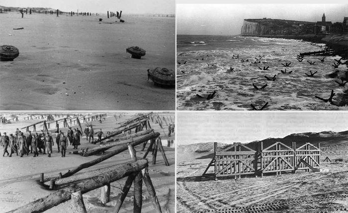 Almanlar sırasıyla 5 milyon mayın döşedi, tankların yürümesini engelleyecek tuzaklar yerleştirdi ve Belçika Kapısı gibi araçlarla çıkarma araçlarının kapısının açılmasını engelledi.