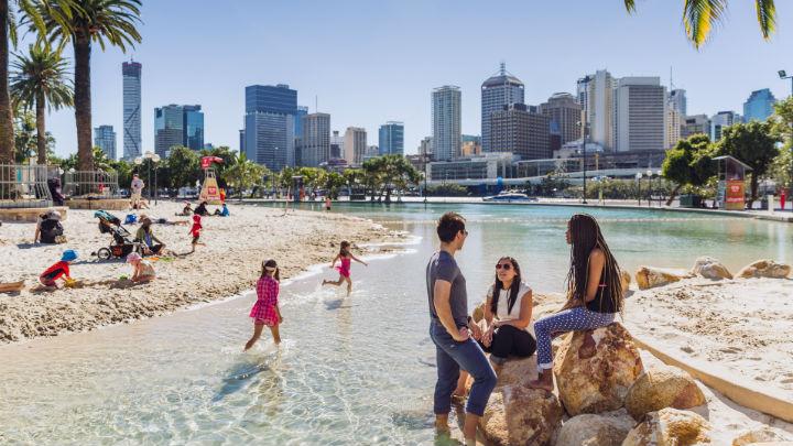 Avustralya'da şehir sahili