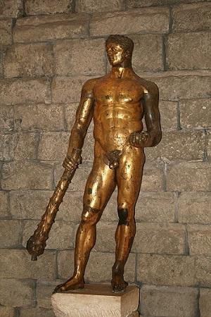 Herkül heykeli. Altın kaplamalı bronz, Roma yapımı, MÖ 2. yüzyıl / Capitolini müzesi