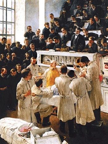 Avustralyalı cerrah Theodor Billroth XIX. yüzyıl sonlarında antiseptik tekniklerin öncülerinden biriydi