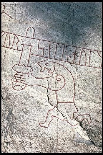 Ramsund oymalarında Gram ile Sigurd'ın 1030 yılına tarihlenen tasviri