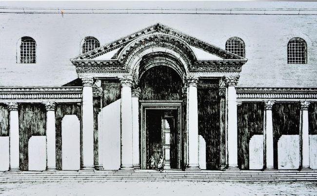 Theodosius döneminde Ayasofya Kilisesi'nin batı cephesi 415-532