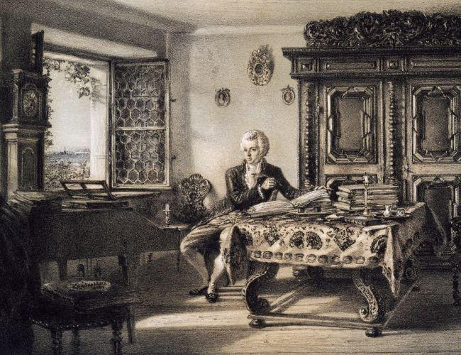 Amadeus Mozart (1756-1791) Kahlenberg, Viyana'da çalışırken