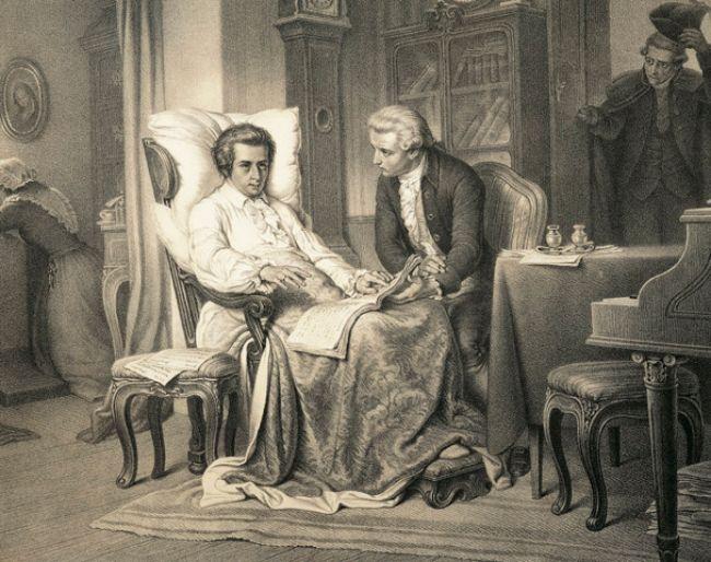 Mozart ölüm döşeğindeyken
