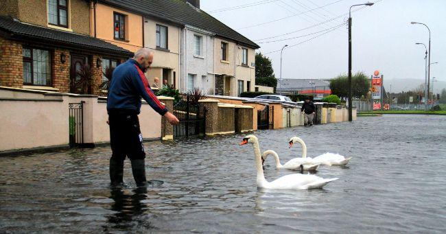 İrlanda'da sel