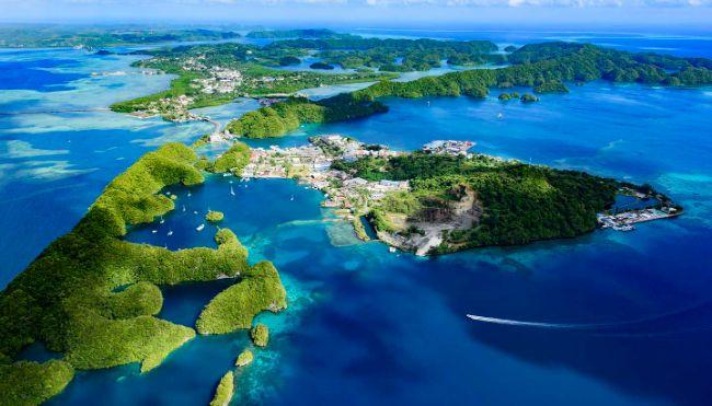Palau, iklim değişikliğinin getirdiği yükselen deniz seviyelerine karşı savunmasız.
