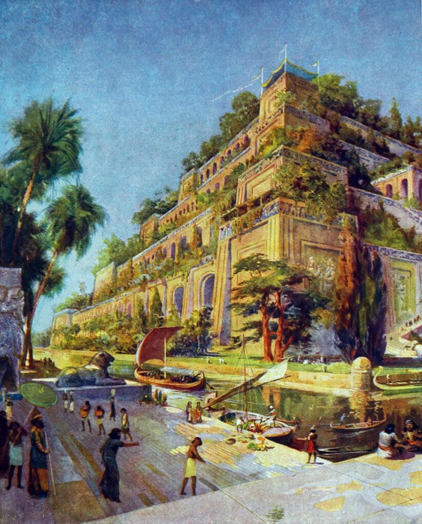 Babil ve asma bahçeleri.