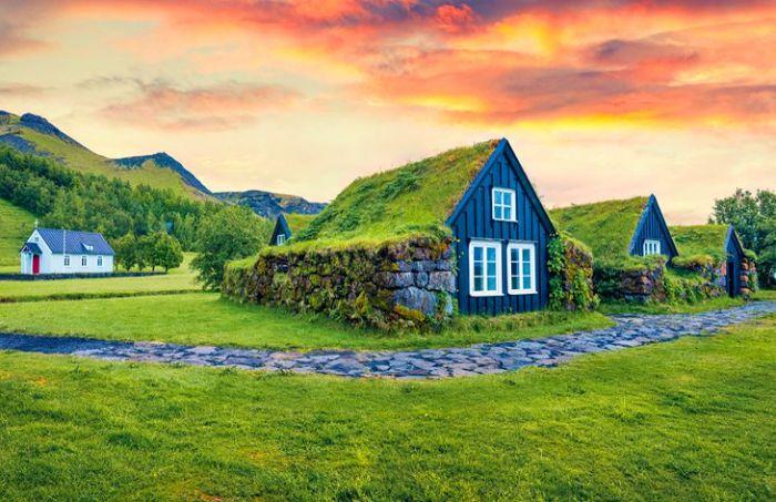 izlanda'da Skogar köyü