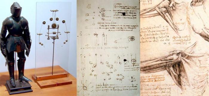 Leonardo Da Vinci tarafından tasarlanan otomat şövalye.