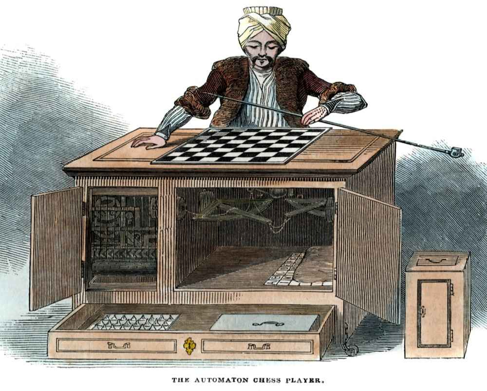 Usta satranç oyuncularının kaybettiği The Turk otomatı ve gizli haznesi.