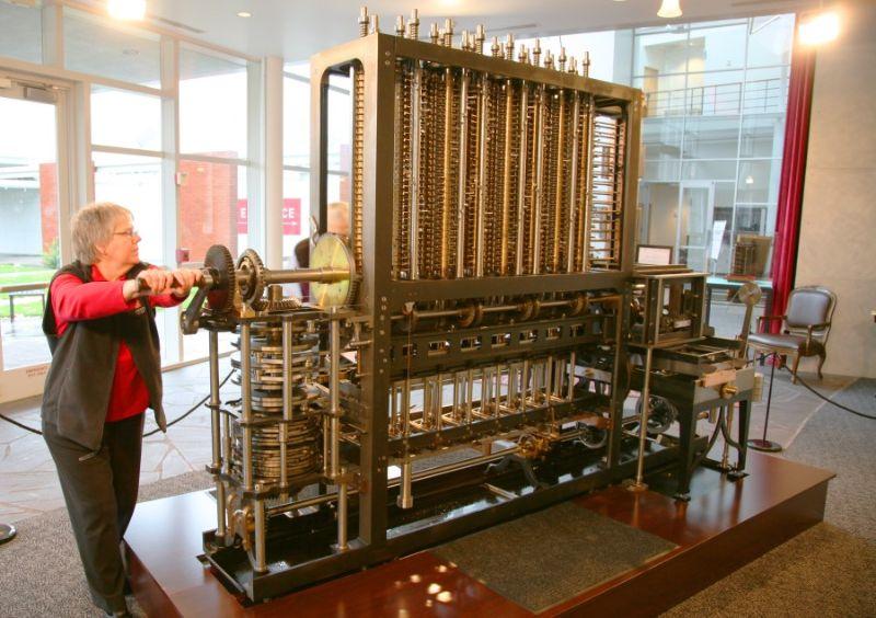 2002'de tamamlanan ve sergilenen Fark Makinesi. Cihazın kullanımı kuvvet istiyordu.