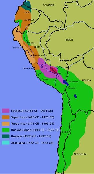 İnka İmparatorluğu haritası