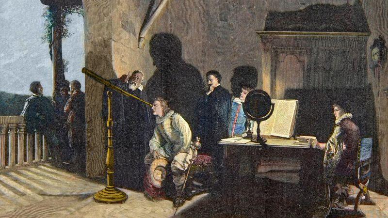 İngiliz şair John Milton, İtalyan gökbilimci Galileo Galilei'yi ziyaret ediyor.