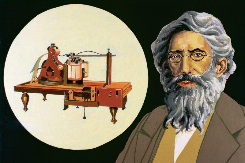 Elektromanyetik telgrafın ve mesaj göndermeye ve almaya yarayan iki cihazın mucidi Samuel Morse.