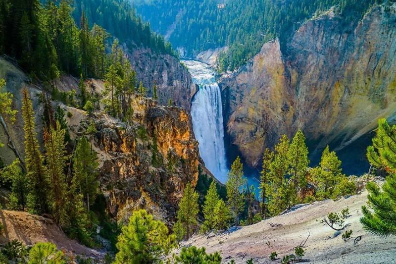 Yellowstone Büyük Kanyon'u.