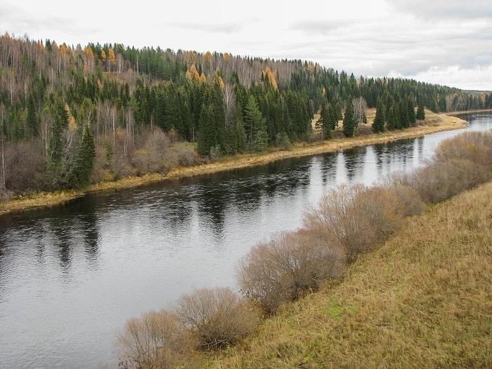 Petrol yataklarının keşfedildiği Ukhta nehri
