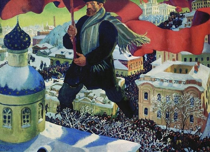 """The Bolshevik,"" Ressam: Boris Kustodiev, 1920"
