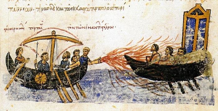 'Rum ateşi', bir ortaçağ tasviri