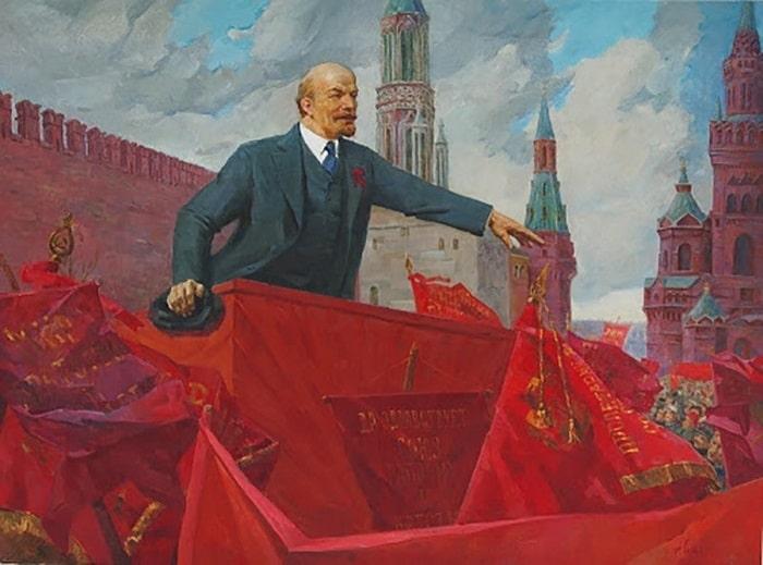 """Kızıl Meydan'da Lenin"", 1924 / Ressam: A. Sidorov"