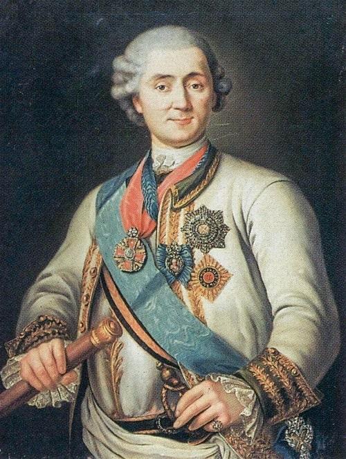 Kont Alexei Grigoryevich Orlov'un portresi