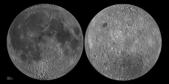 Ay'ın daima gördüğümüz yüzü ve görmediğimiz diğer yüzü.