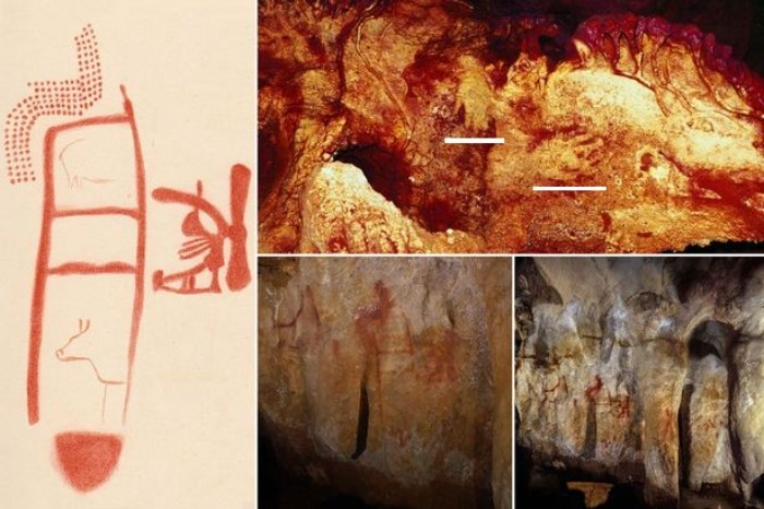 64.000 yıllık Neandertal sanatı ve el kalıpları.