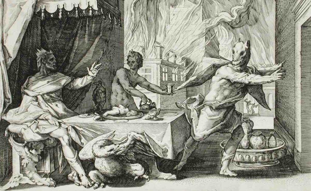 Lykaon kurt adama dönüştürülür