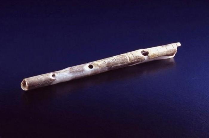Kuş kemiğinden yapılmış 40.000 yıllık flüt, Geißenklösterle bölgesi.